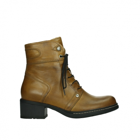 wolky bottines 01260 red deer 30925 cuir ocre fonce