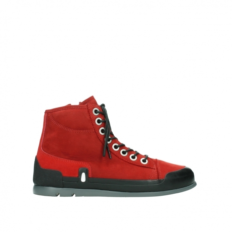 wolky bottines a lacets 02777 watson 13505 cuir nubuck rouge
