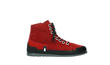 wolky bottines a lacets 02777 watson 13505 cuir nubuck rouge_1