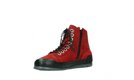 wolky bottines a lacets 02777 watson 13505 cuir nubuck rouge_10