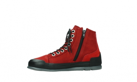 wolky bottines a lacets 02777 watson 13505 cuir nubuck rouge_12