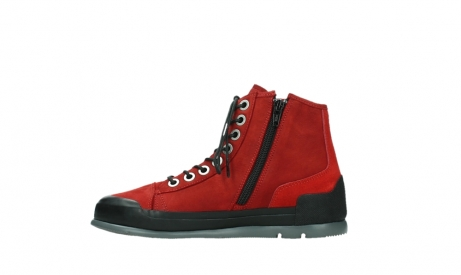 wolky bottines a lacets 02777 watson 13505 cuir nubuck rouge_13