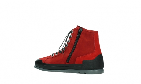 wolky bottines a lacets 02777 watson 13505 cuir nubuck rouge_15