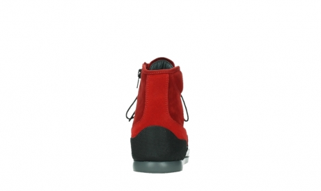 wolky bottines a lacets 02777 watson 13505 cuir nubuck rouge_19