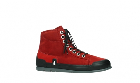 wolky bottines a lacets 02777 watson 13505 cuir nubuck rouge_2