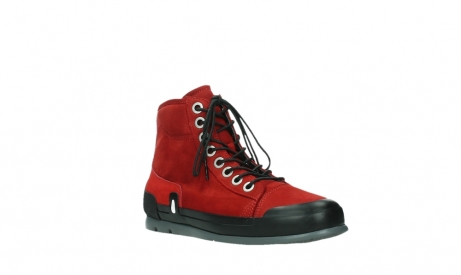 wolky bottines a lacets 02777 watson 13505 cuir nubuck rouge_4