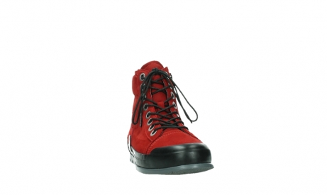 wolky bottines a lacets 02777 watson 13505 cuir nubuck rouge_6