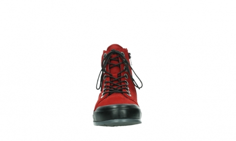 wolky bottines a lacets 02777 watson 13505 cuir nubuck rouge_7