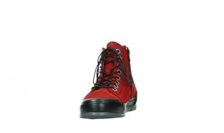 wolky bottines a lacets 02777 watson 13505 cuir nubuck rouge_8