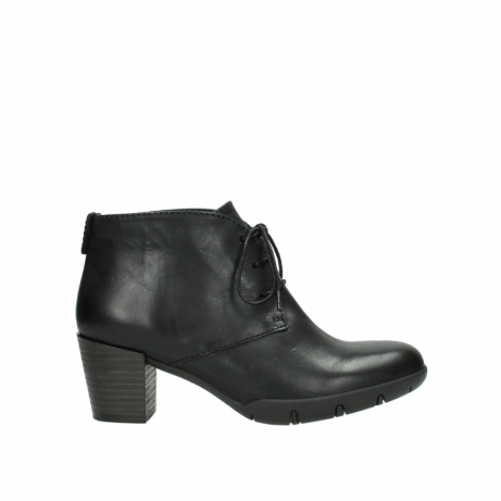 wolky bottines a lacets 03675 bighorn 30002 cuir noir