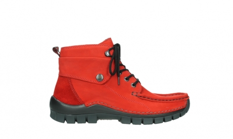 wolky bottines a lacets 04725 jump winter 16505 nubuck rouge fonce_1