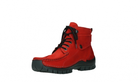 wolky bottines a lacets 04725 jump winter 16505 nubuck rouge fonce_10