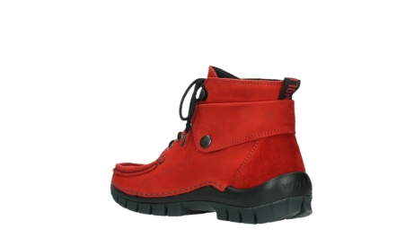 wolky bottines a lacets 04725 jump winter 16505 nubuck rouge fonce_16