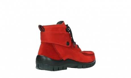 wolky bottines a lacets 04725 jump winter 16505 nubuck rouge fonce_22