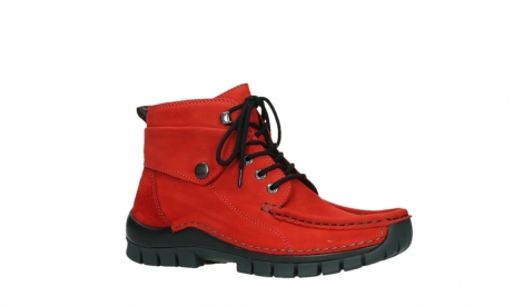 wolky bottines a lacets 04725 jump winter 16505 nubuck rouge fonce_3