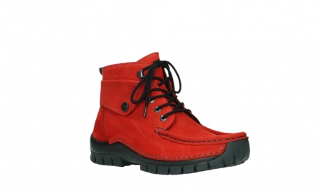 wolky bottines a lacets 04725 jump winter 16505 nubuck rouge fonce_4