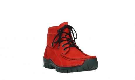 wolky bottines a lacets 04725 jump winter 16505 nubuck rouge fonce_5