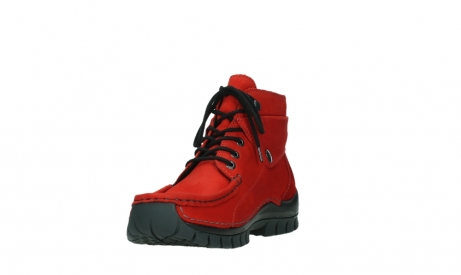 wolky bottines a lacets 04725 jump winter 16505 nubuck rouge fonce_9