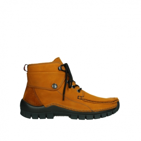 wolky bottines a lacets 04725 jump winter 16920 nubuck ocre