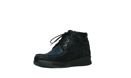 wolky bottines a lacets 05903 three 43800 suede extensible bleu_10
