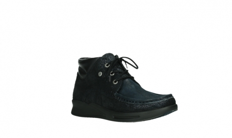 wolky bottines a lacets 05903 three 43800 suede extensible bleu_4