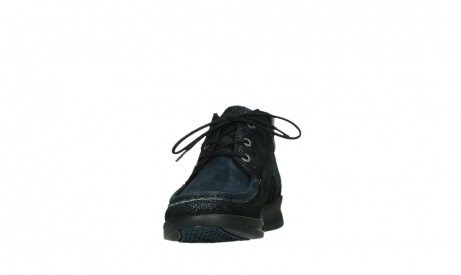 wolky bottines a lacets 05903 three 43800 suede extensible bleu_8