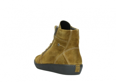 wolky bottines a lacets 08130 zeus 40920 suede jaune ocre_5