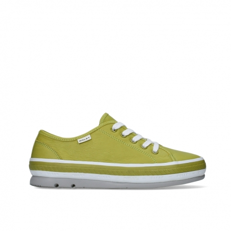wolky chaussures a lacets 01230 linda 30710 cuir vert olive