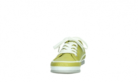 wolky chaussures a lacets 01230 linda 30710 cuir vert olive_8