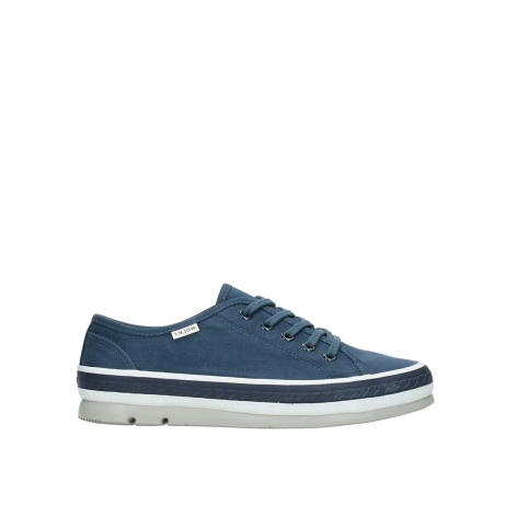 wolky chaussures a lacets 01230 linda 96830 toile bleu