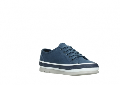 wolky chaussures a lacets 01230 linda 96830 toile bleu_16