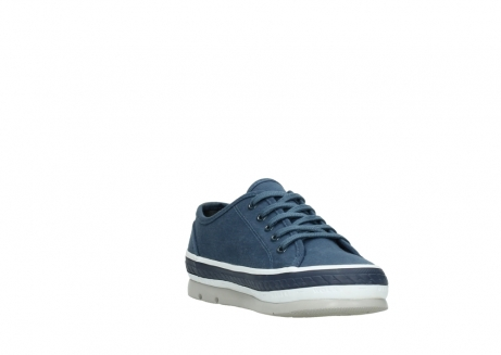 wolky chaussures a lacets 01230 linda 96830 toile bleu_17