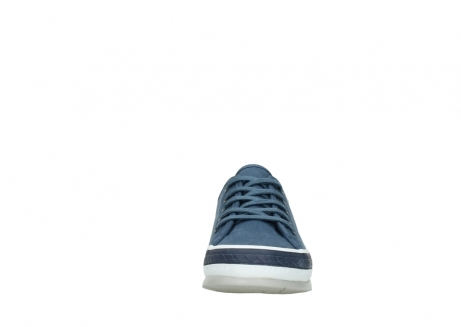wolky chaussures a lacets 01230 linda 96830 toile bleu_19