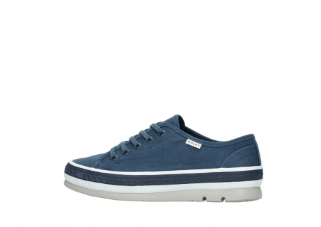 wolky chaussures a lacets 01230 linda 96830 toile bleu_2