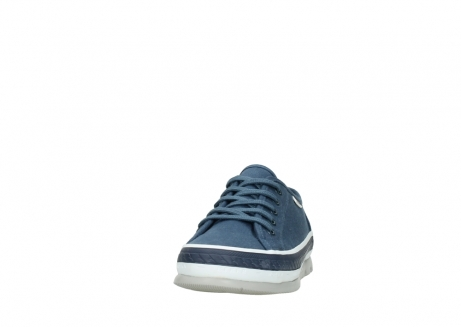 wolky chaussures a lacets 01230 linda 96830 toile bleu_20