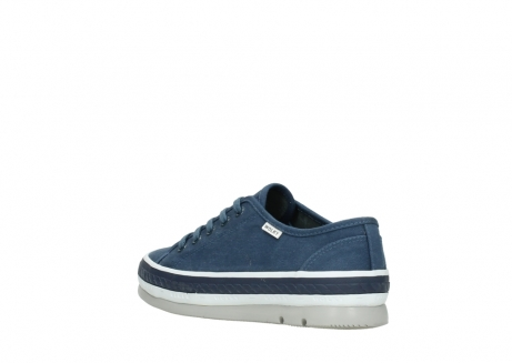 wolky chaussures a lacets 01230 linda 96830 toile bleu_4