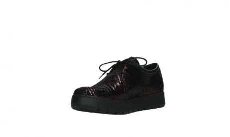 wolky chaussures a lacets 02325 vic 47505 daim rouge_10