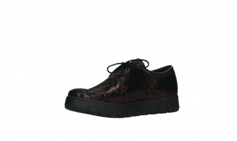 wolky chaussures a lacets 02325 vic 47505 daim rouge_11