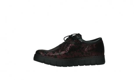 wolky chaussures a lacets 02325 vic 47505 daim rouge_12