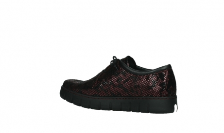 wolky chaussures a lacets 02325 vic 47505 daim rouge_15