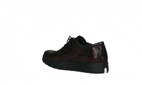 wolky chaussures a lacets 02325 vic 47505 daim rouge_16