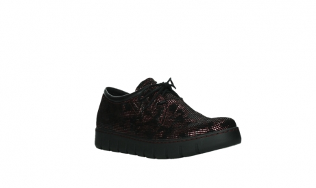 wolky chaussures a lacets 02325 vic 47505 daim rouge_4