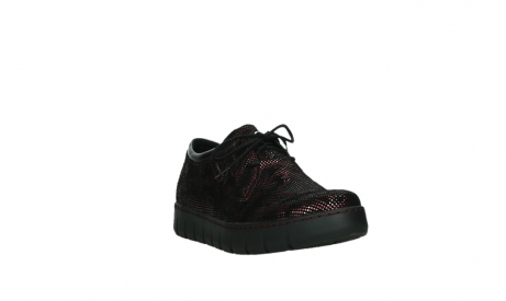 wolky chaussures a lacets 02325 vic 47505 daim rouge_5