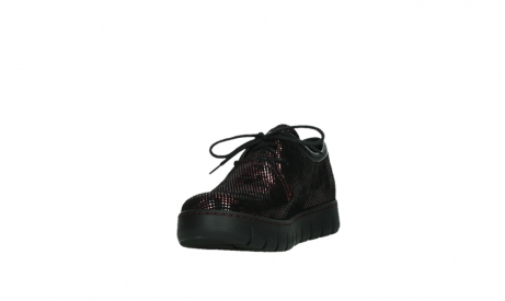 wolky chaussures a lacets 02325 vic 47505 daim rouge_9