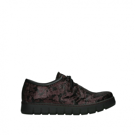 wolky chaussures a lacets 02325 vic 47505 daim rouge