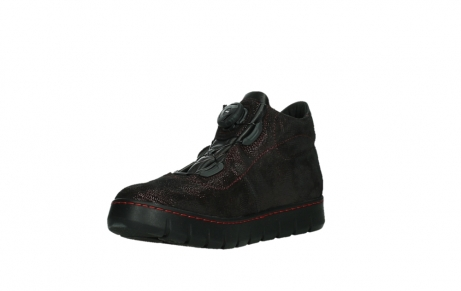 wolky chaussures a lacets 02326 rap 43510 daim metal bordo_10