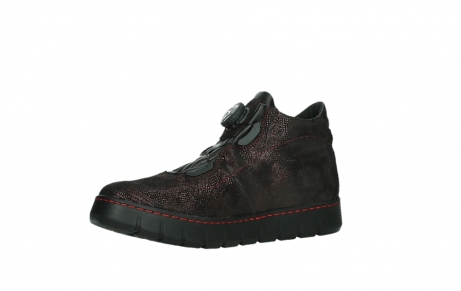 wolky chaussures a lacets 02326 rap 43510 daim metal bordo_11