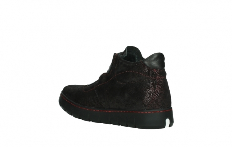 wolky chaussures a lacets 02326 rap 43510 daim metal bordo_16