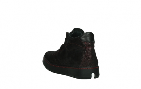 wolky chaussures a lacets 02326 rap 43510 daim metal bordo_17