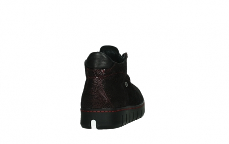 wolky chaussures a lacets 02326 rap 43510 daim metal bordo_20